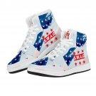 white modern high top air force 1 style men women sneakers, run shoes