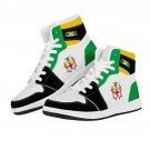 Jamaica flag high top custom sneakers, men women shoes, gift for him