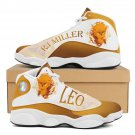 leo zodiac design air jordan style men women sneakers, run shoes