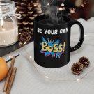 be your own boss black custom coffee mug, christmas gift mug
