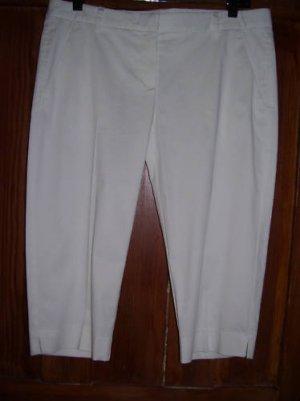 Womens New Theory Honorin Optic White Bermuda Shorts 8 $170