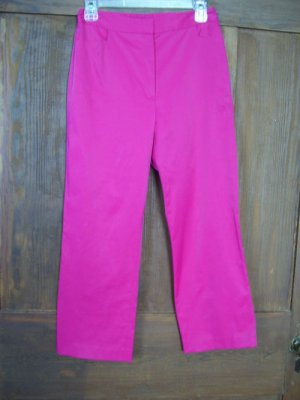 Womens New Finity Studio Monte Carlo Pink Cropped Pants 6 $128
