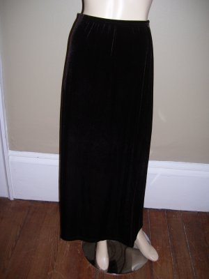 Womens Plus Size Dark Brown Unbranded Velour Velvet Skirt 1X