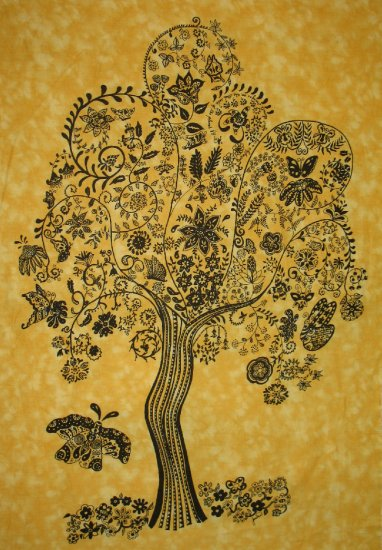 BUTTERFLY TREE GICLEE ON FABRIC