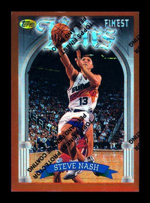 1996/1997 Steve Nash Topps Finest Refractor #217 RC Rookie Mint