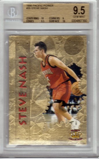 1996 1997 Steve Nash Pacific Power GOLD BGS 9.5 RC Rookie #35