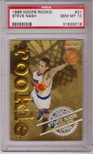 1996 1997 Steve Nash Hoops GOLD PSA 10 RC Rookie #21
