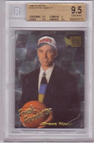 1996 1997 Steve Nash Metal BGS 9.5 RC Rookie #138