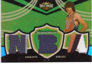 2006 2007 Adam Morrison Triple Threads Gold 1/9 6 Color Patch Rookie RC
