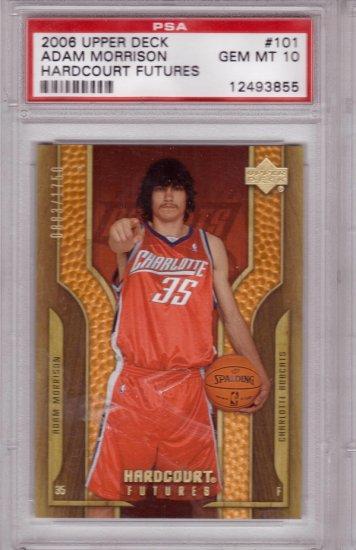 2006 2007 Adam Morrison UD Hardcourt copper PSA 10  Pop 1 RC Rookie