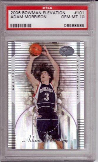 2006 2007 Adam Morrison Bowman Elevation PSA 10 RC Rookie