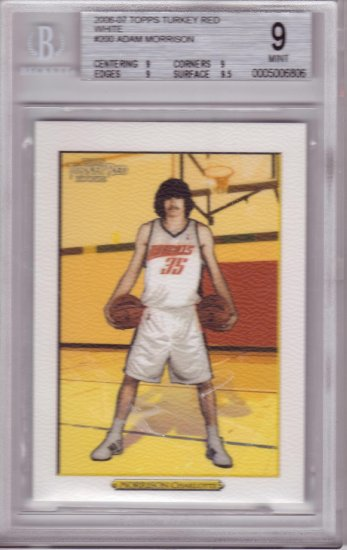 2006 2007 Adam Morrison Turkey Red White BGS 9 pop 1  RC Rookie
