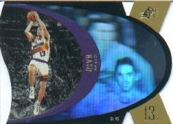 1996 1997 Steve Nash SPX Premium Holographic Gold RC Rookie