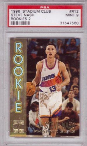 1996 1997 Steve Nash Stadium Club Rookie PSA 9 RC Rookie #12
