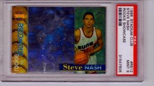 1996 1997 Steve Nash Stadium Club Hologram  PSA 9 RC Rookie #RS12