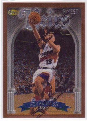 1996 1997 Steve Nash Finest #217 RC Rookie