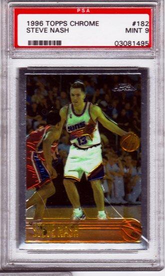 1996/1997 Steve Nash Topps Chrome PSA 9 RC Rookie PSA: 03081495