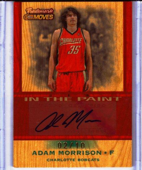 2007 208 Adam Morrison Trademark Moves Wood Auto 2/10