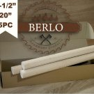 "1-1/2"" Wood Dowel Rods (38 mm), 20"" Long Beech Wood Pegs (50cm), Set Of 5 PCS"