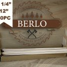 "SET OF 40PC 1/4'' Wooden Dowel Rods (6mm), 12"" Long Beech Wood Pegs (30cm)"