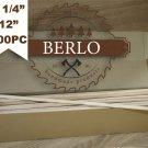 "SET OF 200PC 1/4'' Wooden Dowel Rods (6mm), 12"" Long Beech Wood Pegs (30cm)"
