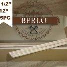 "Set Of 55 PCS 1/2"" Wooden Dowel Rods (12 mm), 12"" Long Beech Wood Pegs (30cm)"