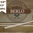 """5/8"""" Beech Wooden Dowel (16 mm), 12"""" Long Beech Wood Pegs (30cm), Set Of 30 PCS"""