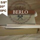 "5/8"" Beech Dowel Rods (16 mm), 20"" Long Beech Wood Pegs (50cm), Set Of 30 PCS"