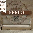 "9/16'' Wooden Dowel Rods (14mm), 12"" Long Beech Wood Pegs (30cm), Set Of 35PC"