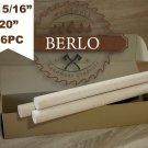 "15/16"" Beech Dowel Rods (24 mm), 20"" Long Beech Wood Pegs (50cm), Set Of 16 PCS"