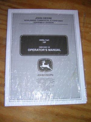 John Deere 10P Utility Cart Operator�s Manual
