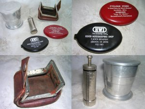 Advertising Rubber & Metal Change Holders & Aluminum Retractable Cup