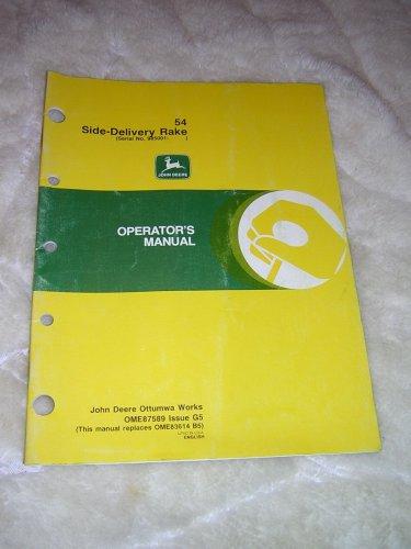 John Deere 54 Side-Delivery Rake Operator�s Manual