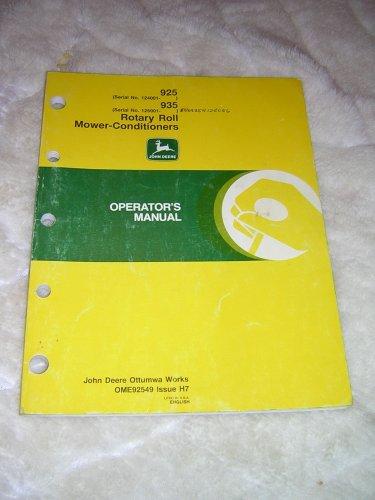 John Deere 925, 935 Rotary Roll  Mower-Conditioner Operator�s Manual