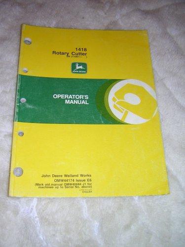 John Deere 1418 Rotary Cutters Operators Manual