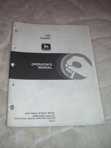 John Deere 440 Loaders Operator�s  Manual