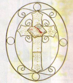 capiz cross suncatcher