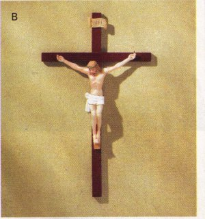 HAND PAINTED CRUCIFIX