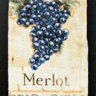 4 Merlot Grape Hand Towels