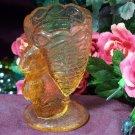 Rabbit Toothpick Holder Pink Glass