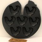 Cast Iron Rooster Baking Pan