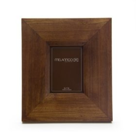 Melannco Walnut Finish Wide Wood Frame 5-by-7-Inch(actual frame size 12x14)