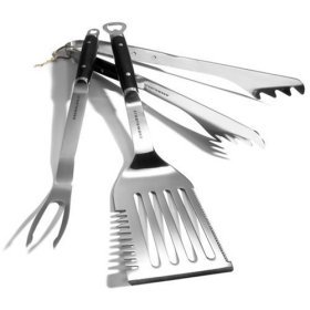 Strathwood Forged Stainless Steel  3-Piece BBQ Tool Set