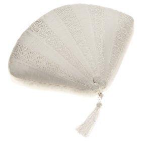 Natori 11 by 15 Fan Decorative Pillow-White