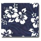 Set of 2 Collected Memories NAVY HIBISCUS Fabric Ctovered 8x8 Inch Premium Scrapbook Album