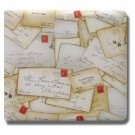 Collected Memories Letters Fabric Covered 12-Inch by 12-Inch Premium Post-Bound Scrapbook Album