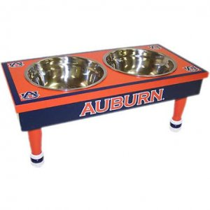 Pet Goods Collegiate Pet Double Diner-Auburn