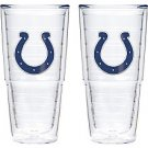 Set of 2-Tervis Tumbler NFL Indianapolis Colts 24-Ounce Double Wall Insulated Tumbler