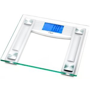 """Ozeri Elite Series II Digital Bathroom Scale With 5"""" Blue Backlit Xbright LCD and InstaOn Technology"""