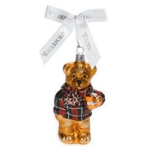 Waterford Holiday Heirloom Plaid Teddy Bear Ornament